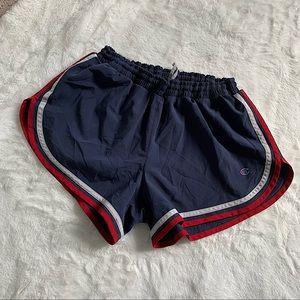 CHAMPION   Phys Ed Varsity shorts navy/red size M
